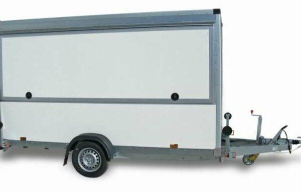 Rimorchio FM13 Cresci, ideale per mercati, food truck