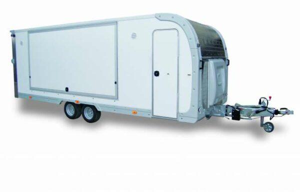 Rimorchio PAF25 Cresci, ideale per mercati, food truck